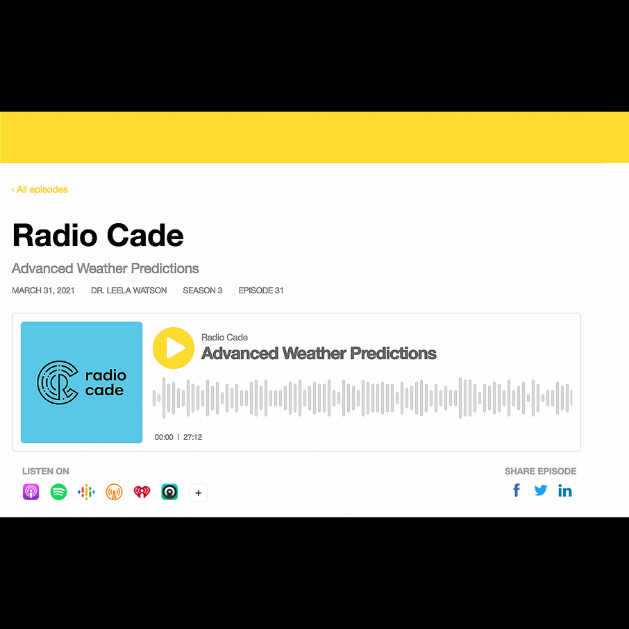 Radio Cade Podcast featuring Dr. Leela Watson of InitWeather